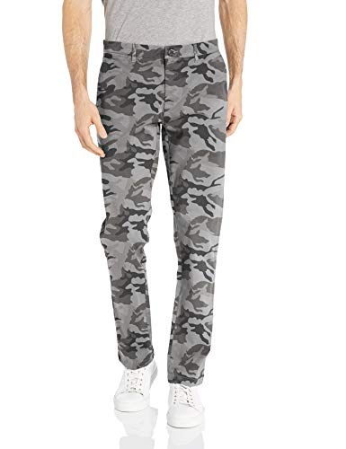 Amazon Brand - Goodthreads Men's Slim-Fit Washed Stretch Chino Pant, Grey Camo 36W x 32L