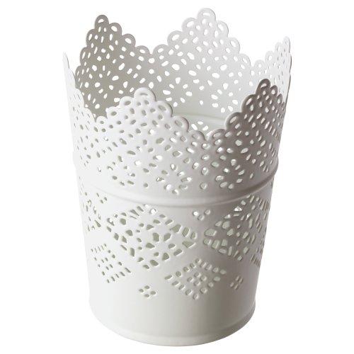 Ikea portavelas Skurar metal estampado 4colores, metal, weiß