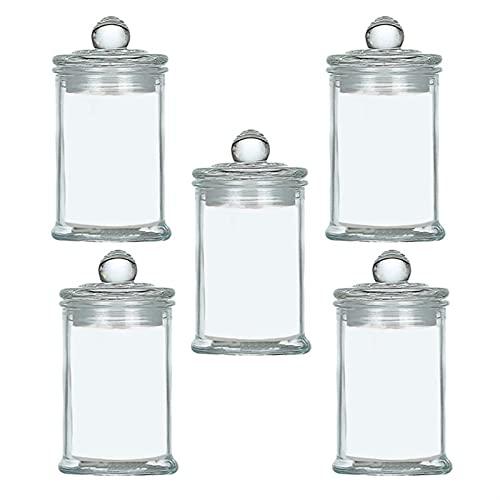 XIN NA RUI Bote Cristal 5 unids Portátiles Hogar Sellado GLASES Transparente...