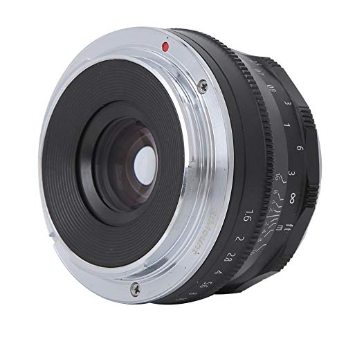 Topiky Lente de cámara sin Espejo, CC-Mil3516N 35mm f1.6 Lente de cámara con Montura E de Medio Cuadro de Enfoque Manual para Sony A5000, A6000, A6300, A6500 A7, A7R, A7II, A7RII(Negro)