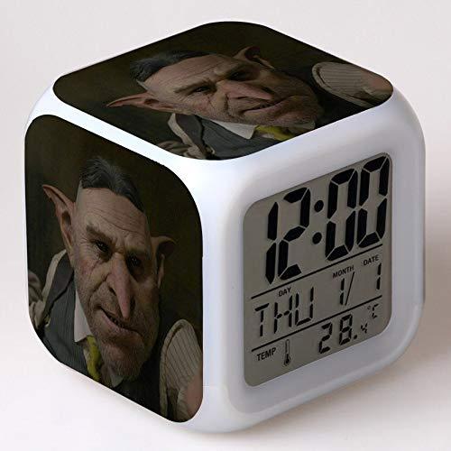 JXAA Despertador LED Reloj con luz Brillante Reloj Despertador Reloj con Pantalla LED