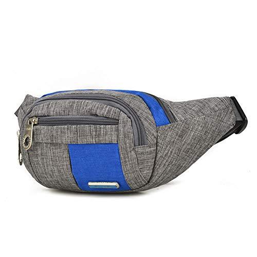 FASDFE Sac De Taille Poches en Nylon Sports de Plein air Sac à bandoulière pour Hommes et Femmes Multi-Function Travel Bum Bag @ Blue