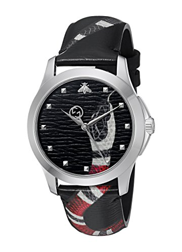 Gucci YA1264007 Unisex zonder kwarts horloge met lederen armband