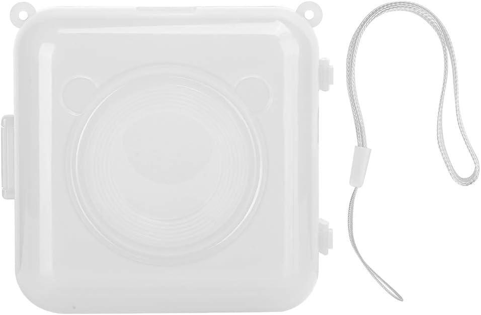 Printer Protective Case, Transparent/Pink Shockproof Pocket Case Pocket Printer Case, for Bluetooth Pocket Printer for Thermal Sticky Note Barcode Printer(Transparent Color)