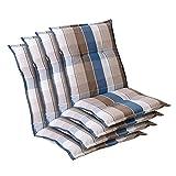 Homeoutfit24 Prato - Cojín Acolchado para sillas de jardín, Hecho en Europa,...