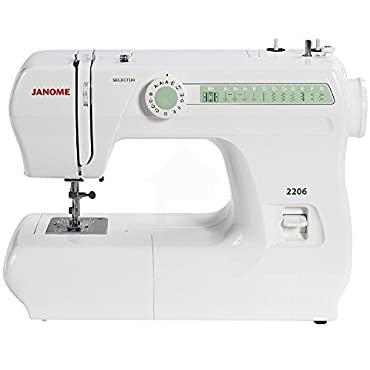 Janome 2206 6-Stitch Full Sewing Machine W/Free Bobbins & Needles