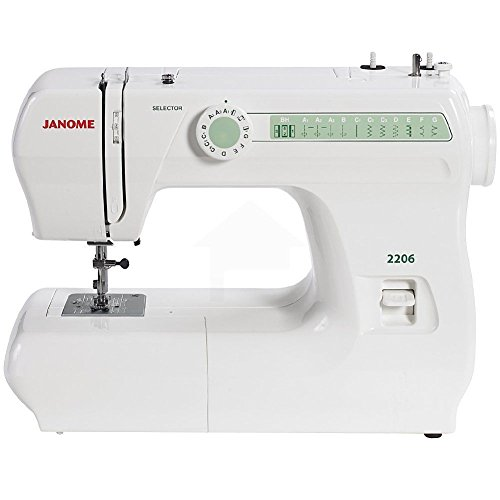 Janome 2206 6-Stitch Full Size Freearm Sewing Machine W/Free Bobbins & Needles