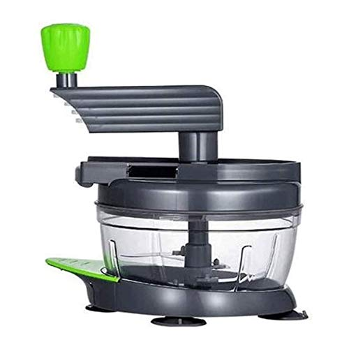 HUIXINLIANG Food Chopper,Hand Crank Manual Meat Grinder Heavy Duty Stainless Steel Blades,Portable Garlic Crusher, Egg Beater, Meat Grinder,for Meat, Vegetables, Fruits and Nuts