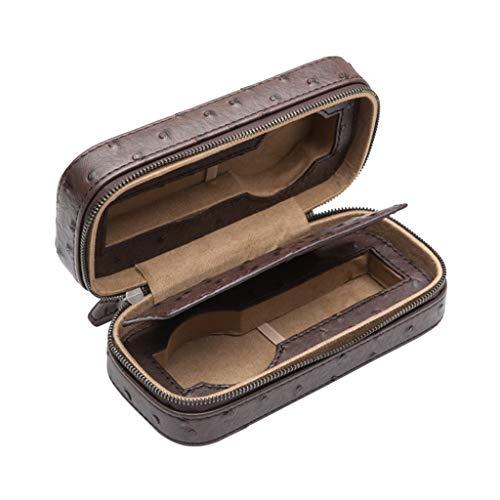 KHUY Caja para Relojes, Travel Caja Relojes Hombre/Mujer, Premium Relojero Organizador, Relojero Caja Titular de Reloj Organizador Estuche Relojes Hombre Piel Regalos (Color : Brown)