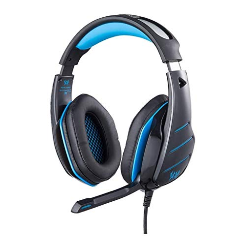 PS4 Xbox One Gaming Headset, Son Surround 7.1 Réduction du Bruit 3,5 mm Professional Portable Tablet Intelligent Gaming Headset (Color : Blue)