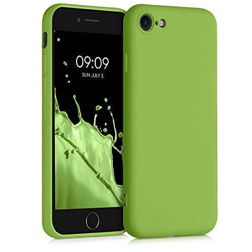kwmobile Custodia Compatibile con Apple iPhone 7 8   SE (2020) - Cover Silicone Gommato - Back Case Protezione Posteriore Cellulare - Oliva Verde