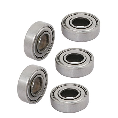 Uxcell a12021500ux0296 5 Pcs 12mm x 28mm x 8mm 6001ZZ Shielded Deep Groove Radial Ball Bearing (Pack of 5)