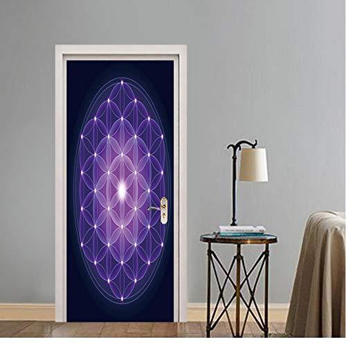 3D deur stickers print art waterdicht behang zelfklevend vernieuwen eenvoudige abstracte wooncultuur wandgarderobe renovatie stickers 95 * 215cm