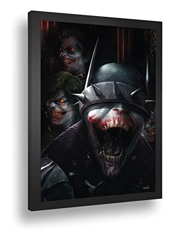 Quadro Decorativo Poste Batman Que Ri Coringa Dc Comics