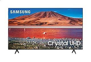 تلفزيون سمارت 55 بوصة 4 كيه Ultra HD LED مع ريسيفر داخلي من سامسونج، اسود - UA55AU7000UXEG