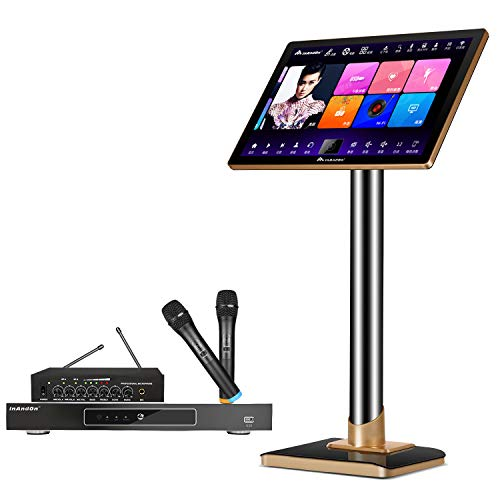 InAndon Karaoke System KV-V503 Pro Karaoke Player, With Wireless Mic,22'' Capacitive Touch Screen Intelligent Voice Keying Machine Real-time score (22'' Capacitive Touch Screen+6T hard disk)