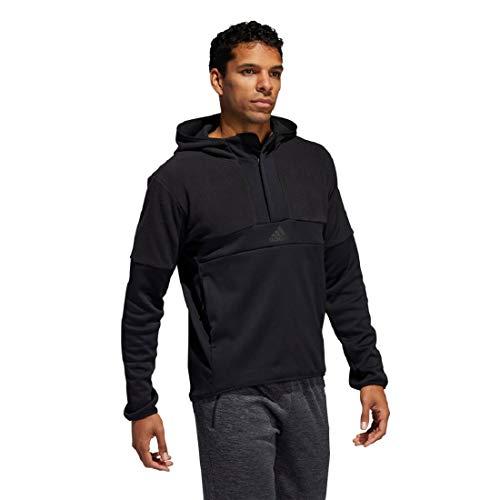 adidas Men's Team Issue Anorak Hoodie (Black, Small)