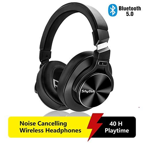 Cuffie Wireless Bluetooth 5.0 Cancellazione Attiva del Rumore,Srhythm NC75 Pro ANC Over Ear con...