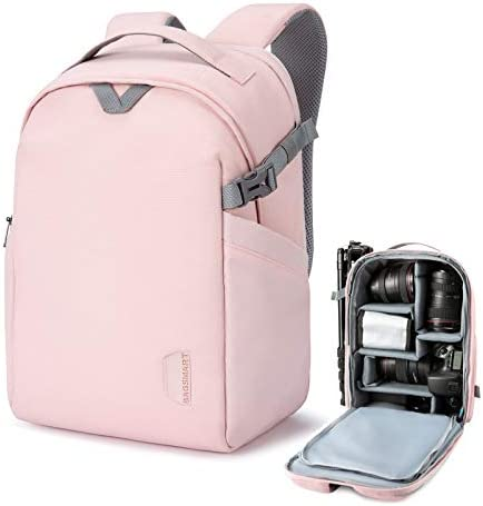 BAGSMART Camera Backpack DSLR SLR Camera Bag Fits up to 13 3 Inch Laptop Water Resistant with product image