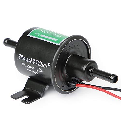 Bomba de combustible eléctrica universal CarBole de 12 V de latón, 2,5 – 4 PSI, bomba de combustible en línea de baja presión, gasolina diésel HEP02A