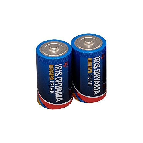 アイリスオーヤマ 乾電池 単1 アルカリ 2本パック 長寿命・大容量タイプ BIG CAPA PRIME LR20BP/2P