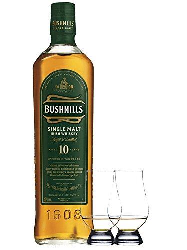 Bushmills 10 Jahre Matured in Two Woods 0,7 Liter + 2 Glencairn Gläser