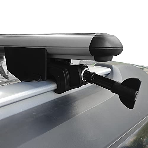 Omad Para Peugeot 5008 2017-2021 Barras de techo Portaequipajes Barras Transversales Con Cerradura Aluminio Gris