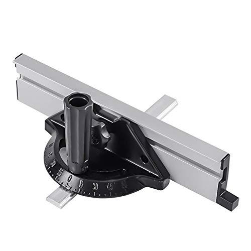 DELITLS Sistema de vallas de inglete para carpintería con una regla de corte repetitivo y placa de ángulo, accesorios portátiles ajustables