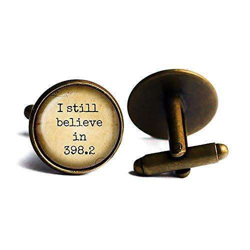 Fairytale I still believe in 398.2 Dewey Decimal System Märchen Antike Bronze Manschettenknöpfe