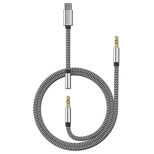 USB Typ C auf 3,5 mm Aux-Kabel, LcueGuk 3-in-1 USB C auf 3,5 mm Auto-Stereo-Kopfhörer-Konverter-Adapter, Kopfhörerkabel für Pixel 2XL / 3 / 3XL, Samsung, Xiaomi, Huawei P30 / Mate20, iPad Pro 2018