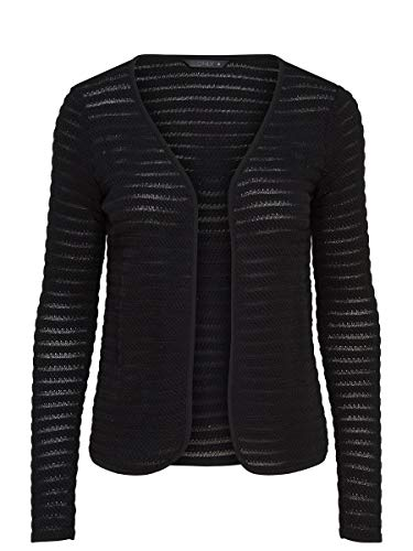 ONLY Onlcrystal Ls Cardigan Noos, Chaqueta para Mujer, Negro (Black), 42 (Talla del Fabricante: Large)