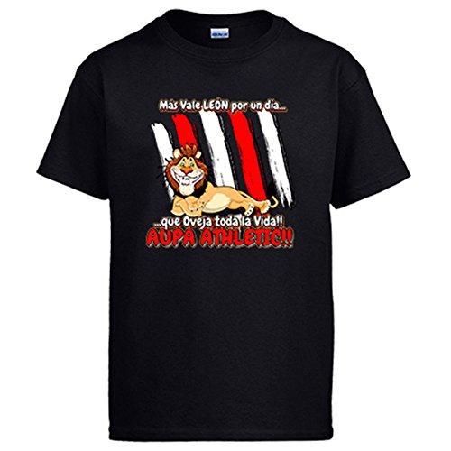 Camiseta Frase Divertida león del Athletic por un día - Negro, 9-11 años