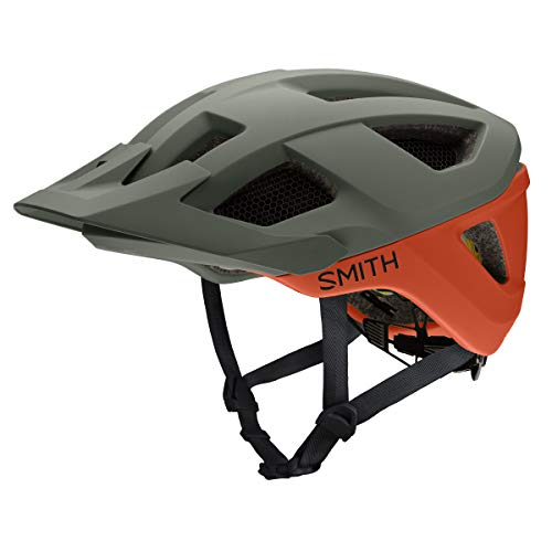 Smith Optics Session MIPS Men's MTB Cycling Helmet (Matte Sage/Red Rock, Medium)