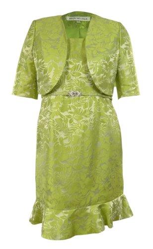 Women's Leaf Embossed Business Suit Dress Set (10, Leaf)