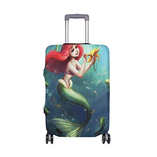 IUBBKI La Sirena Ariel para Colorear Funda de Equipaje de Viaje Protector de Maleta Se Adapta a...