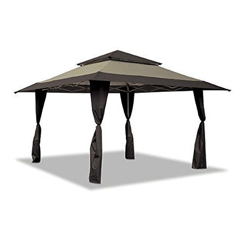 Z-Shade Replacement Canopy Top Cover Only Black/Khaki 13x13 Gazebo Cover for Standard Frame Model #ZS1313PRETNB150D - 150D Polyester Fabric (Top Cover Only-No Frame) NOT for Auto Extension Poles -  TOPACG150