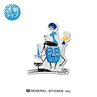 SHAG 透明 TIKI&GIRL Sサイズ シャグ アート アーティスト ステッカー イラスト ライセンス商品 SHAG011 gs 公式グッズ