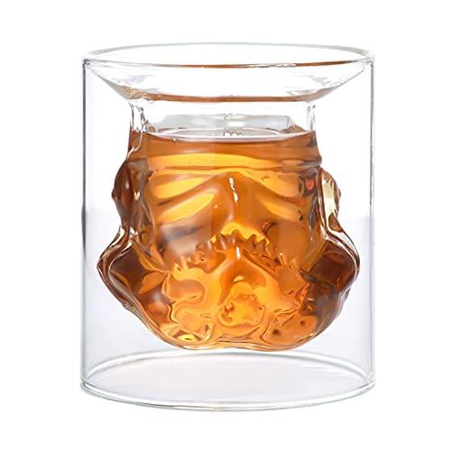 ZSWB Whisky Decanter Set de Copa de Vino Tormenta Trooper Casco Whisky Copa de Vidrio Copas de Vino Accesorios para Hombres creativos Regalo 210419 (Color : 1cup1bottle1stopper)