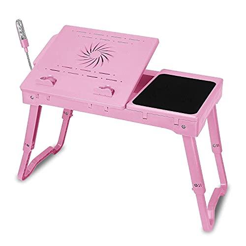 Escritorio plegable para computadora en la cama, portátil Mesa para computadora portátil plegable Soporte de escritorio para computadora con alfombrilla para mouse Soporte para computadora portátil