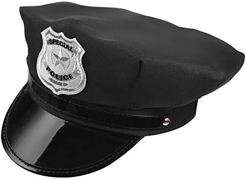 Balinco Gorra de policía - Gorra de visera negra para hombres y las mujeres