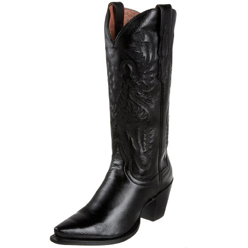 "Dan Post Boots Womens Maria Western Cowboy Boots Knee High Mid Heel 2-3"" - Black - Size 6.5 M"