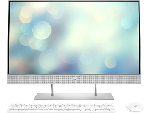 HP All-in-One 27-dp0067ns, 27' FHD 1920 x 1080, AMD Ryzen Serie U 4000 con Tarjeta Gráfica Radeon, SDRAM DDR4-3200 de 16 GB, SSD de 512 GB, Plata Natural, Teclado QWERTY Español