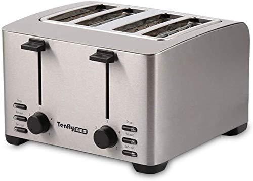 Haushalts Toaster 2 Scheiben, Retro Kleiner Toaster mit Bagel, Abbrechen, Auftaufunktion, 4PCS Brot Toaster Sandwich Maker Grillofen Frühstücksmaschine