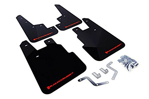 Rally Armor MF28-UR-BLK/RD Black, Red Mud Flap with Logo (14+ Subaru Forester), 1 Pack