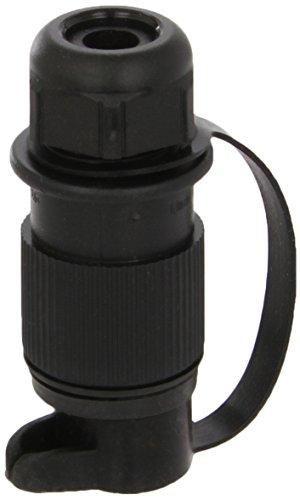 HELLA Stecker 3-polig, für Land- und Baumaschinen nach DIN 9680 . aus schwarzem Kunststoff, mit Gummitülle für Leitungen ø 8 - 13 mm. 4 x 6,3 mm / 1 x 4,8 mm Flachsteckanschlüsse