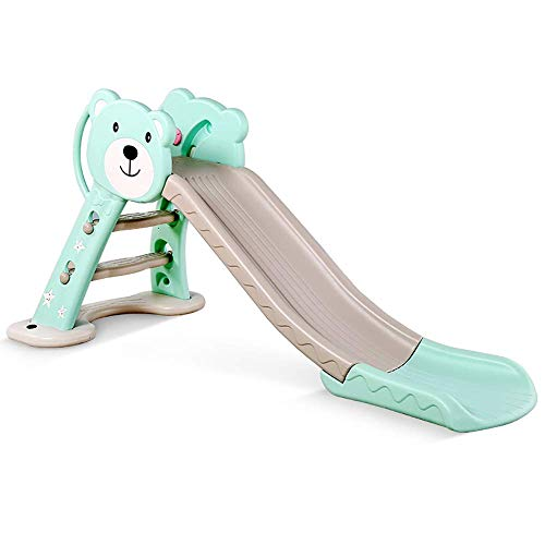 Children's Outdoor Garden Playground Slide, Foldable Indoor Small Slide Toy, with Basketball Frame, Suitable for Children 3-6 Years Old WTZ012