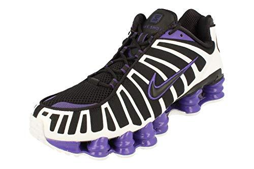Nike Shox TL, Running Shoe Mens, Negro/Blanco/Morado Cancha, 44 EU