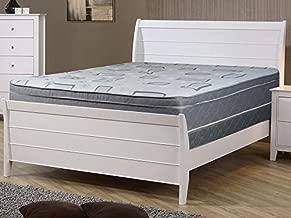 Continental Sleep Medium Plush Foam Encased Hybrid Eurotop Pillowtop Innerspring Mattress and 8