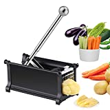 French Fry Cutter, [2020 Improved Version] Multipurpose Stainless Steel Potato Chipper with 1/2 Inch Blades, Vegetable Slicer Chopper with Extended Handle and Non-Slip Feet for Home and Commercial Use