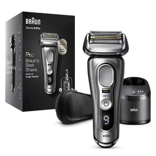 Braun Series 9 Pro 9465cc Rasoio Elettrico Barba, Testina Con Rifinitore ProLift 4+1, Stazione SmartCare 5 In 1, Batteria Da 60 Minuti, Uso Wet&Dry Per Barba Di 1, 3 E 7 Giorni